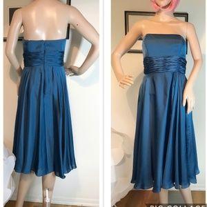 Monique Lhuillier Strapless Waist Gather Dress 2